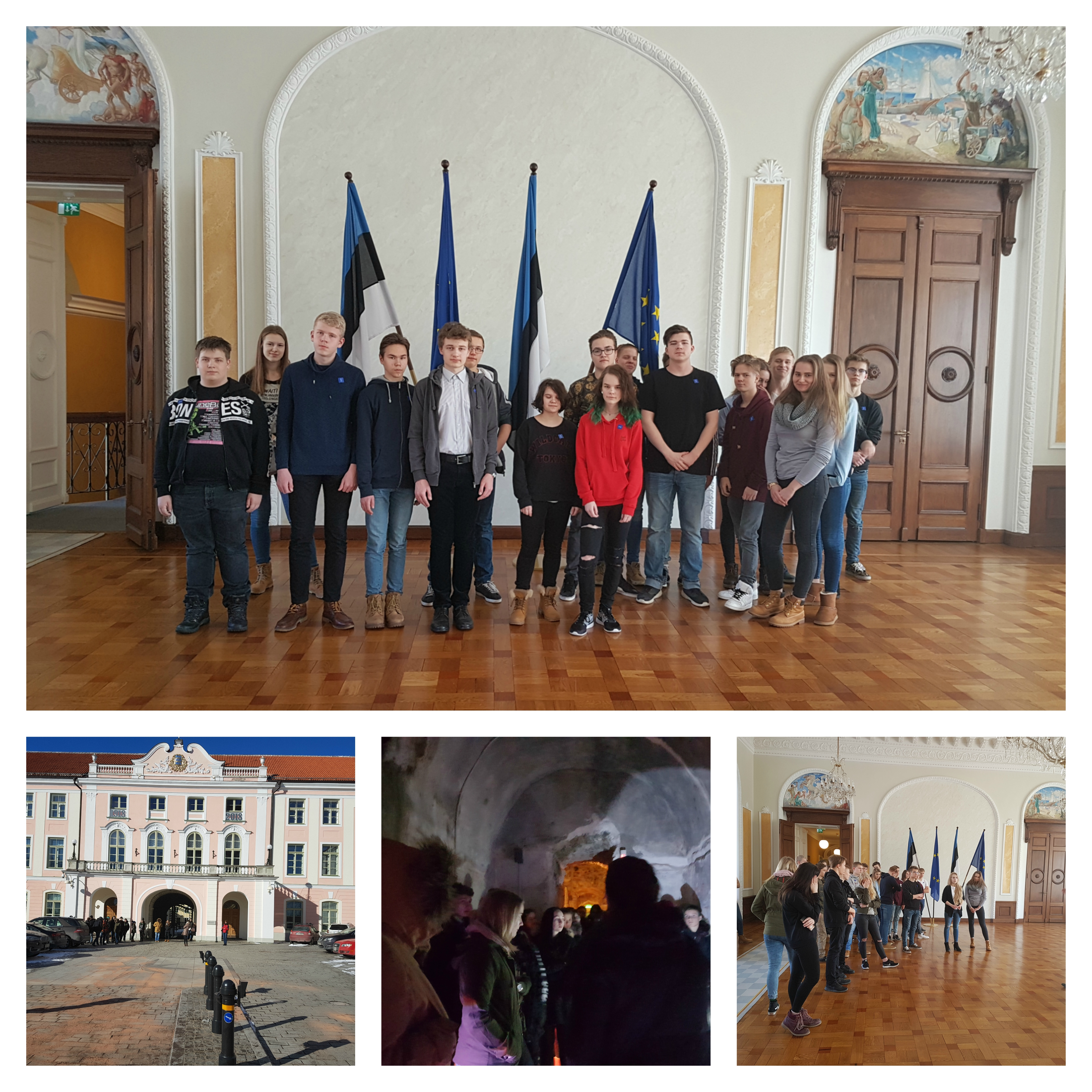 8. ja 9.klass õppekäigul Tallinnas