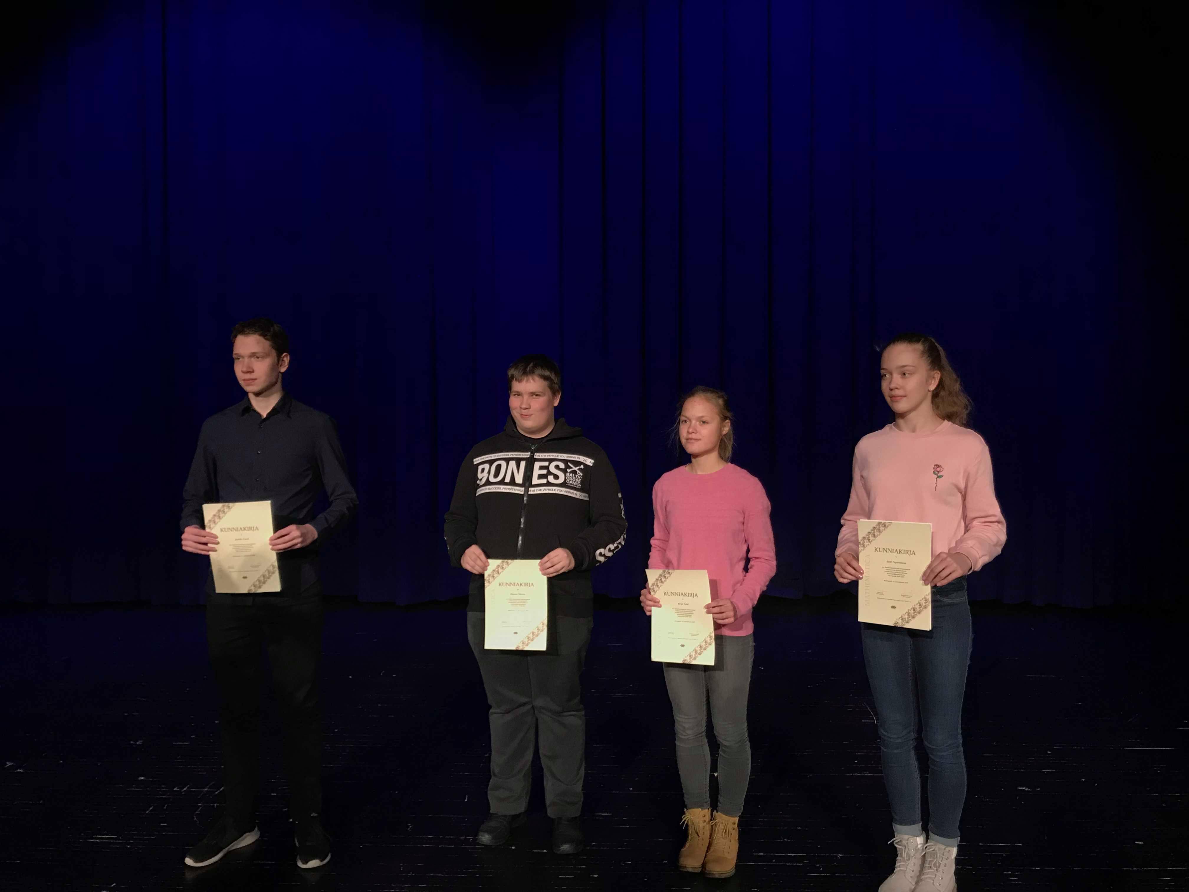 9.klassi õpilane Hannes Sidorov osales Helsingis toimunud matemaatikaolümpiaadil